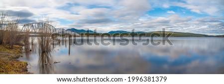 鋼 橋 道路 曇った 日 山 ストックフォト © alex_grichenko