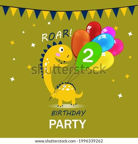 歳の誕生日 ヤモリ 漫画 祝う 3dのレンダリング パーティ ストックフォト © AlienCat