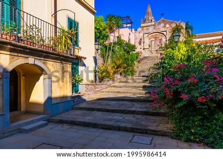 Szicília · Olaszország · ház · fal · utca · terv - stock fotó © Steffus