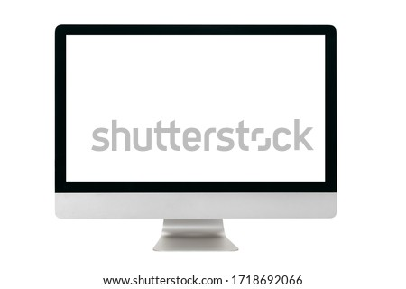 Laptop with black screen isolated Stock photo © michaklootwijk