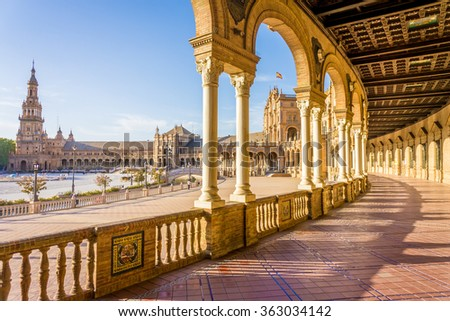 Seville Sevilla Plaza Espana Andalusia Spain stock photo © lunamarina