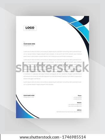 clean minimal lettehead design template vector design illustrati Stock photo © SArts