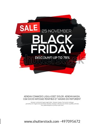 black friday sale poster template with black ink in grunge style Stock photo © SArts