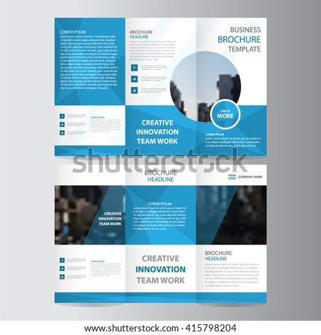 minimal tri fold brochure design template for coporate business  Stock photo © SArts