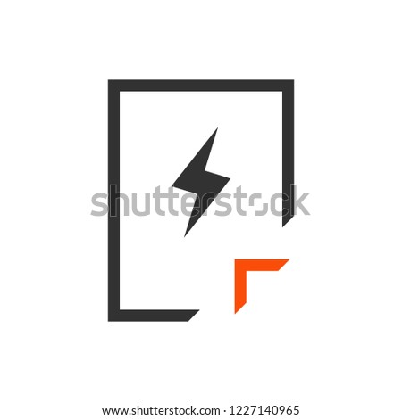 Documento icona fulmini stile isolato Foto d'archivio © kyryloff