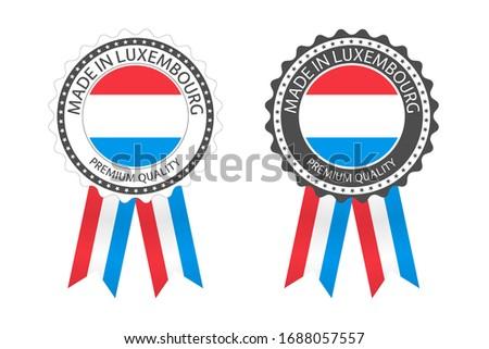 современных вектора Люксембург Label изолированный белый Сток-фото © kurkalukas