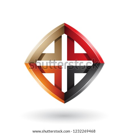 black orange red and beige skewed diamond shape vector illustrat stock photo © cidepix