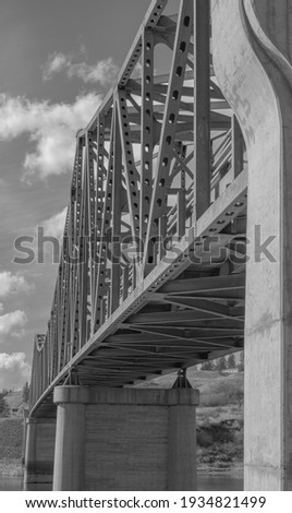 Vintage Metal Bridge and Roadway