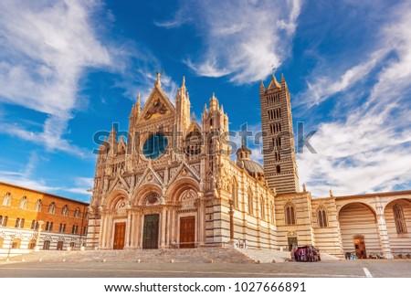 Kathedraal Italië Blauw architectuur Stockfoto © boggy