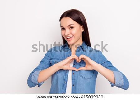 piękna · brunetka · kobieta · twarz - zdjęcia stock © studiolucky