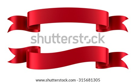 Christmas red title ribbon Stock photo © Blue_daemon