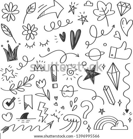 vector scribble line heart art foto d'archivio © VetraKori