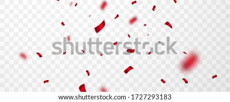 red confetti celebration carnival ribbons luxury greeting card vector illustration stock photo © olehsvetiukha