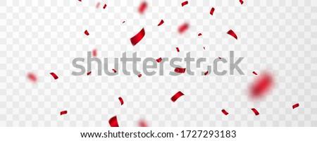Rood confetti viering carnaval luxe Stockfoto © olehsvetiukha