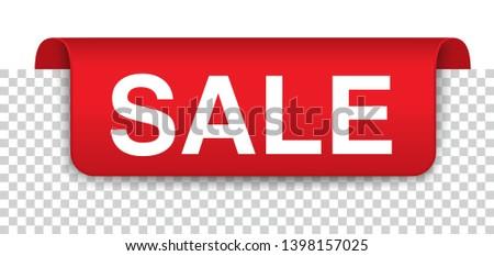 sale red covert marker banner transparent stock photo © limbi007