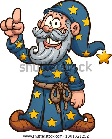 Wizard Cartoon Character Pointing  Stock photo © Krisdog