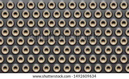 Black Beige and Grey Embossed Round Loudspeaker Background Vecto Stock photo © cidepix