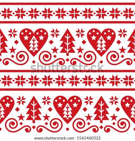 Cute powtarzalne christmas sztuki wektora Zdjęcia stock © RedKoala