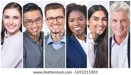 Front widoku różnorodny grupy ludzi biznesu patrząc Zdjęcia stock © wavebreak_media