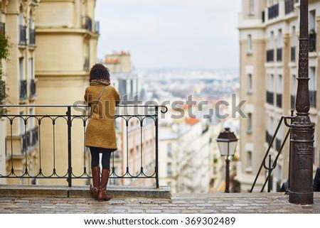 Kobiet cieszyć się panoramiczny widoku piękna Zdjęcia stock © galitskaya