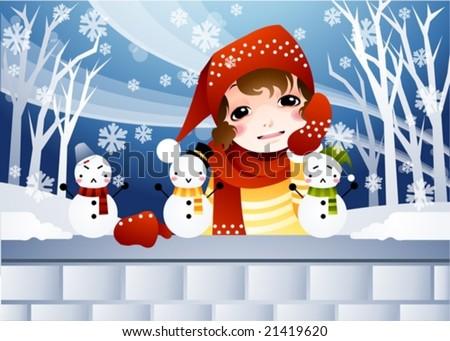 女性 赤 セーター 冬 生活 林間の空き地 ストックフォト © ElenaBatkova