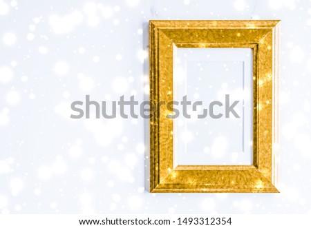 Złoty blask śniegu marmuru Zdjęcia stock © Anneleven