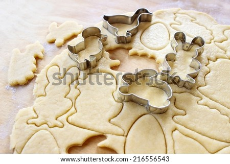 Gingerbread dough for cooking Easter cookies Stock photo © furmanphoto