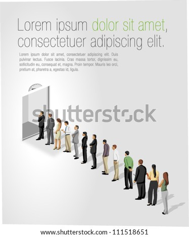 Business person standing with direction concept Stock photo © ra2studio