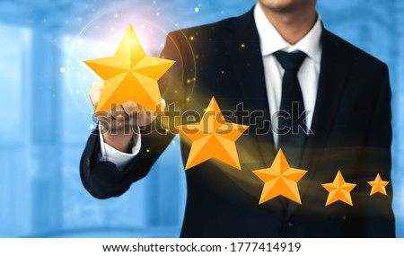 Person Placing Five Star Rating Icon Stock photo © AndreyPopov