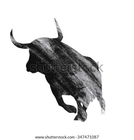 Bull in Spanish with bull head artwork illustration on the white background Stock photo © Natalia_1947