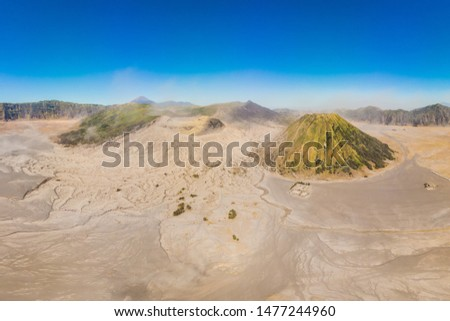 Antenne shot vulkaan park java eiland Stockfoto © galitskaya