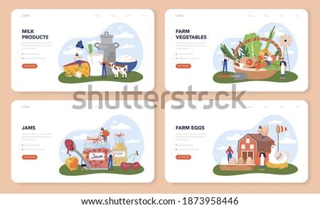 Eco house concept landing page. Stock photo © RAStudio