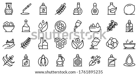 Extraction of oil icons set Stock photo © ayaxmr