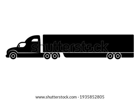Trekker silhouet zijaanzicht eenvoudige zwarte icon Stockfoto © evgeny89