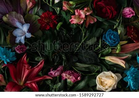Absztrakt virágmintás virágcsokor virágok ünnep branding Stock fotó © Anneleven