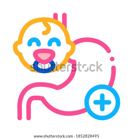 work of esophagus of newborn baby icon vector outline illustration Stock photo © pikepicture