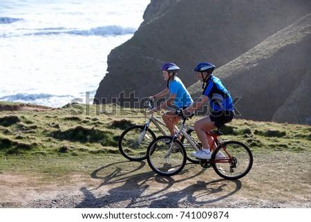 Casal equitação bicicleta floresta amor homem Foto stock © photography33