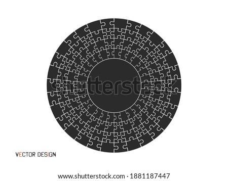 Abstract Mosaic background from joined parts with circle composi Stock photo © pashabo