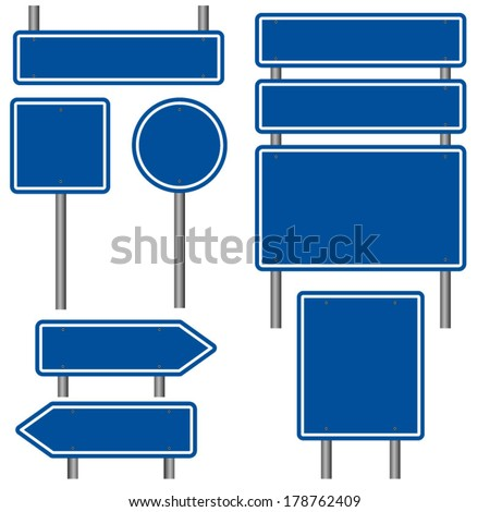 Vector Illustration of a blank road sign on blue sky background  Stock photo © experimental