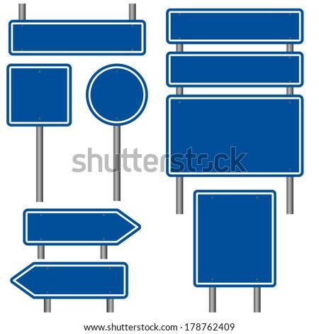 interestadual · assinar · vermelho · azul · placa · sinalizadora · prata - foto stock © experimental