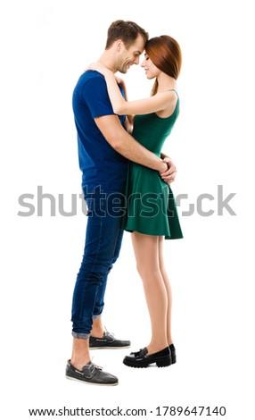 Ritratto uomo fidanzata bianco amore Foto d'archivio © wavebreak_media