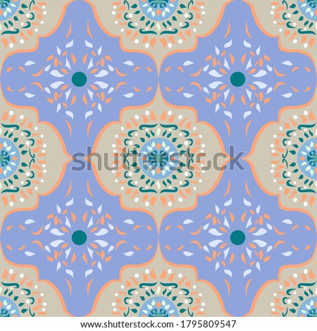 mosaic with tiles gives a beautiful colorful pattern Stock photo © meinzahn