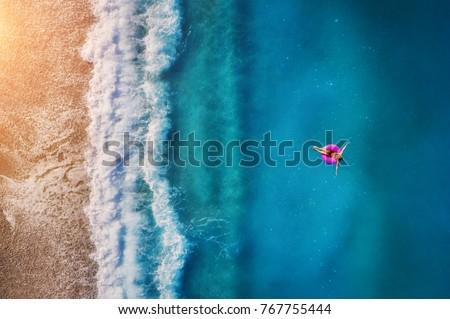 Mediterranean sea beach shore coastline water Stock photo © lunamarina