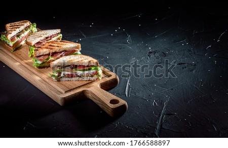 sandviç · tost · ekmek · lezzetli · yeşil · peynir - stok fotoğraf © taden