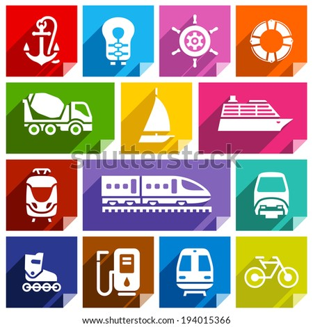 Transport flat icon-01 Stock photo © Ecelop
