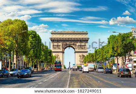 Arco del Triunfo París impresionante Francia viaje Foto stock © chrisdorney