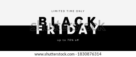 Black friday banner modello simbolo lucido Foto d'archivio © SArts
