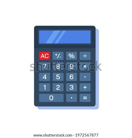 Calculadora ícone desenho animado estilo isolado branco Foto stock © lucia_fox