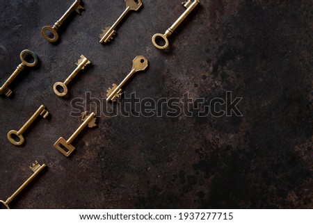 Collectie veel verschillend oude retro sleutels Stockfoto © Illia