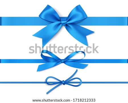 Blue Ribbons Collection Stock photo © cammep